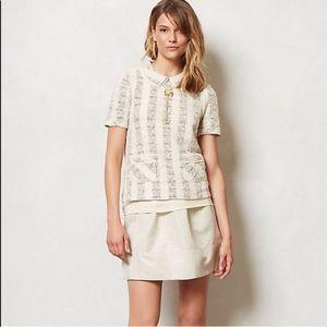 2/$50 Ganni Cressida Gold Skirt Anthropologie M